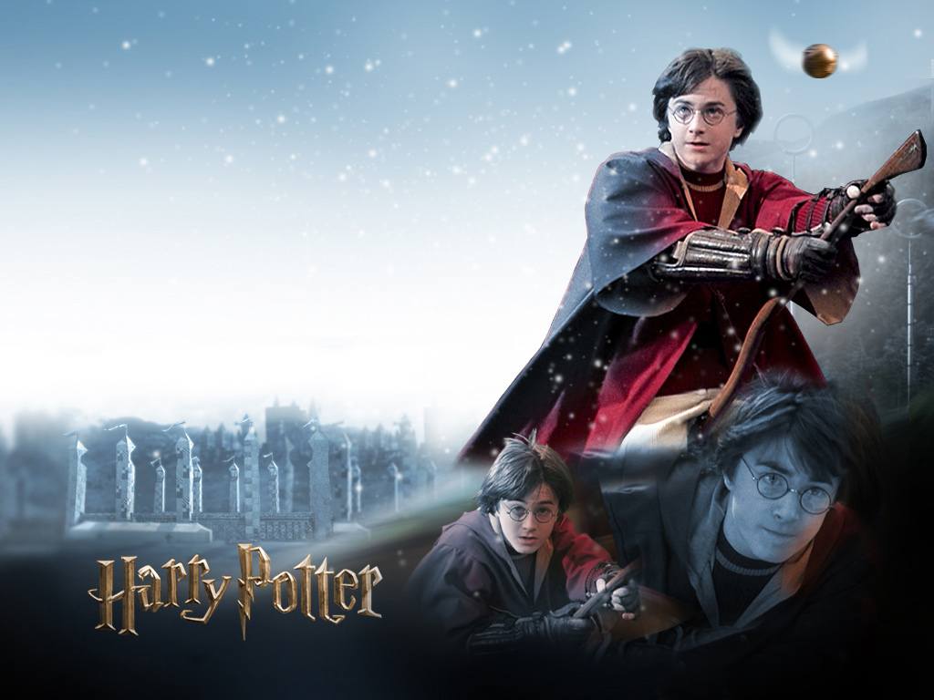 Harry potter playing quidditch wallpaper download 1024 x 768