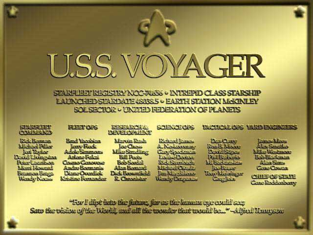 Star trek voyager blueprints and information free star trek dedication plaque quote for i dipt into the future far as human eye can see saw the vision of the world and all the wonder that would be sciox Image collections